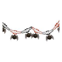 DEKORACE HALLOWEEN Girlanda s pavouky 15 x 200 cm