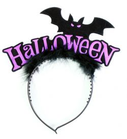 čelenka netopýr s peřím Halloween