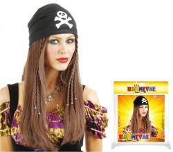 paruka pirátská se šátkem pro dospělé