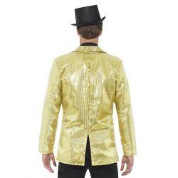 Flitrované pánské sako - zlaté