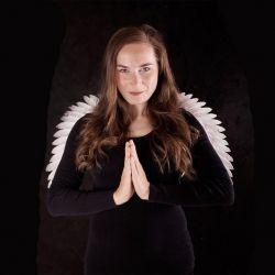 křídla andělská bílá třpytivá