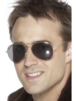 Brýle - Letec - stříbrné obroučky
