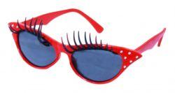 brýle karnevalové s řasami