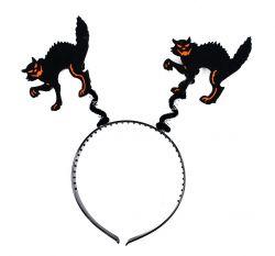 čelenka kočka halloween/čarodějnice