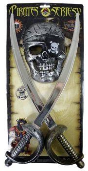 sada pirátská, 2 meče s maskou