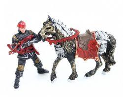 sada rytíř s koněm v krabici