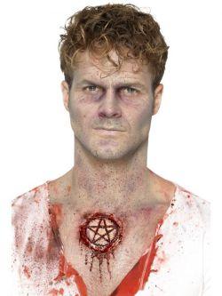 Zranění - latexové, pentagram