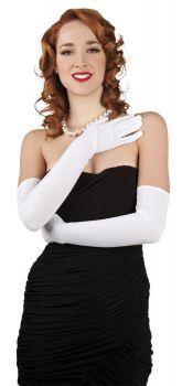 Bílé dlouhé rukavičky