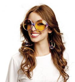 Brýle - Hippie - velké - barevné