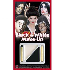 Černo-bílý karnevalový make-up