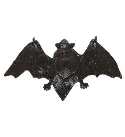 Černý glitrový netopýr se sponkou do vlasů
