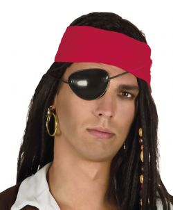 Pirátská souprava, náušnice s černou páskou