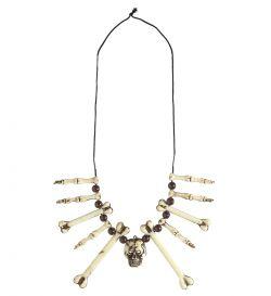 Plastový náhrdelník kosti a lebka