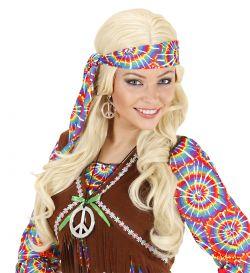 Stříbrný náhrdelník a náušnice,hippie, plast