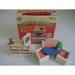 dřevěný nábytek barevný - OBÝVACÍ POKOJ